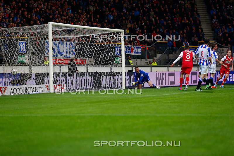 Nederland, Heerenveen, 26 april 2013.Eredivisie.Seizoen 2012-2013.SC Heerenveen-AZ.Roy Beerens van AZ scoort, 0-2