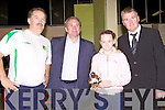 Awards night for Listowel Celtic Soccer Schoolboys/girls were held in St. Michaels College Listowel on Thursday night..Dominic Scanlon, Ray Houghton, Tina Mangan, Aidan O'Connor