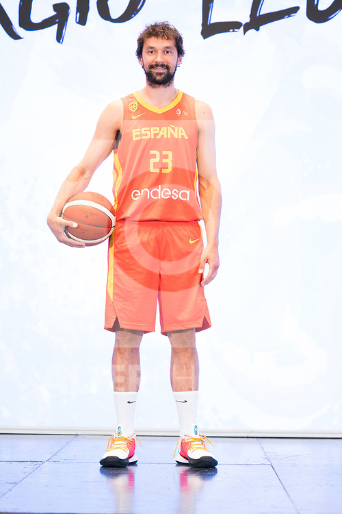 Player Sergio Llull during the official presentation of Spanish National Team of Basketball.  July 24, 2019. (ALTERPHOTOS/Francis Gonzalez)