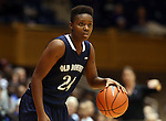 02 January 2014: ODU's Laquanda Younger. The Duke University Blue Devils played the Old Dominion University Lady Monarchs in an NCAA Division I women's basketball game at Cameron Indoor Stadium in Durham, North Carolina. Duke won the game 87-63.