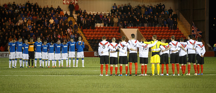 Rangers and Airdrieonians remember the 66 dead from the Ibrox disaster on the anniversary of the tragedy