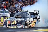 Sept. 28, 2012; Madison, IL, USA: NHRA funny car driver Matt Hagan during qualifying for the Midwest Nationals at Gateway Motorsports Park. Mandatory Credit: Mark J. Rebilas-