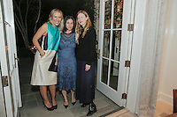 Kerrilynn Pamer, Cindy DiPrima and Crystal Meers attend the CAP Beauty + Jenni Kayne Dinner on Nov. 5, 2015 (Photo by Inae Bloom/Guest of a Guest)