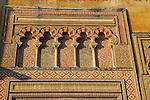 Moorish doorway arches elaborately inscribed stonework of the mezquita Great Mosque, Cordoba, Spain