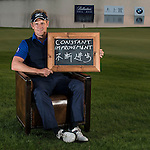 "Luke Donald was asked by Ballantine's at the BMW Masters to describe how he stays true to himself; his answer is shown. Ballantine's, who recently announced their new global marketing campaign, ""Stay True, Leave An Impression"", is a sponsor at the BMW Masters, which takes place from the 24-27 October at Lake Malaren Golf Club in Shanghai.  Photo by Andy Jones / The Power of Sport Images for Ballantines."