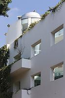 Asie/Israel/Tel-Aviv-Jaffa: détail immeuble Bauhaus sur Montefiore Sreet