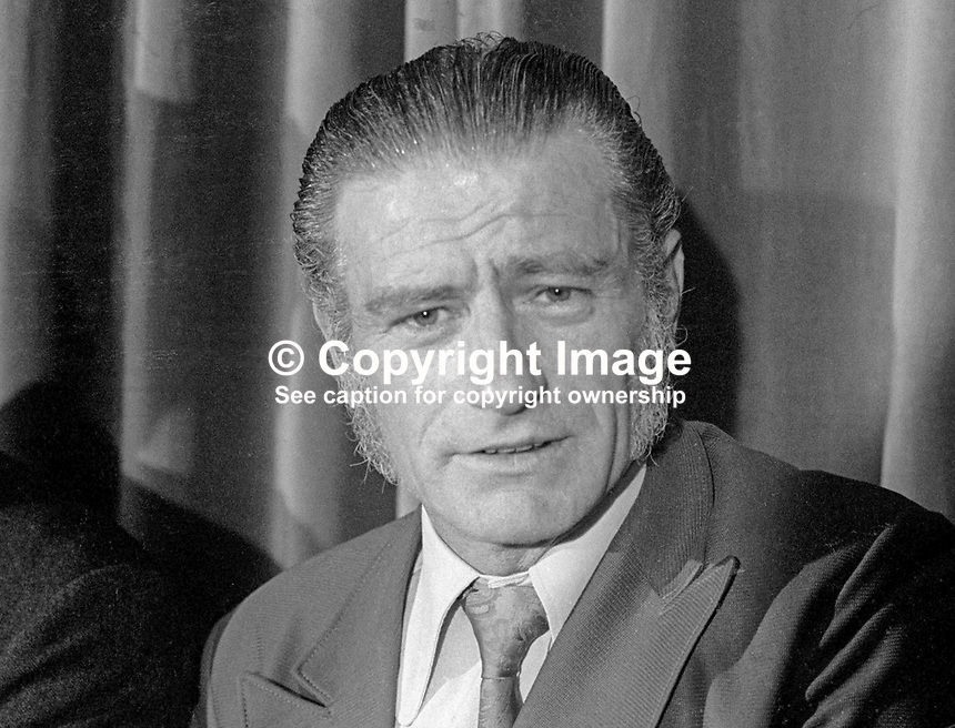 Alderman Tommy Wright, candidate, Democratic Unionist, DUP, South Belfast, Assembly Election, June, 1973, 197309000417<br />