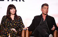 2020 FOX WINTER TCA: (L-R): 9-1-1: LONE STAR cast member Liv Tyler and cast member/Co-Executive Producer Rob Lowe during the 9-1-1: LONE STAR panel at the 2020 FOX WINTER TCA at the Langham Hotel, Tuesday, Jan. 7 in Pasadena, CA. © 2020 Fox Media LLC. CR: Frank Micelotta/FOX/PictureGroup