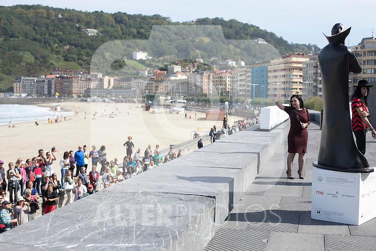 Alaska during `Hotel Transilvania´ film presentation at 63rd Donostia Zinemaldia (San Sebastian International Film Festival) in San Sebastian, Spain. September 25, 2015. (ALTERPHOTOS/Victor Blanco)
