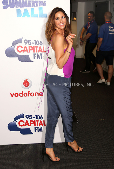 WWW.ACEPIXS.COM<br /> <br /> June 6 2015, London<br /> <br /> Lisa Snowdon at the Capital FM Summertime Ball on June 6 2015 in London<br /> <br /> By Line: Famous/ACE Pictures<br /> <br /> <br /> ACE Pictures, Inc.<br /> tel: 646 769 0430<br /> Email: info@acepixs.com<br /> www.acepixs.com