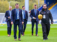 Referee Peter Bankes (left) inspects the pitch before the match<br /> <br /> Photographer Alex Dodd/CameraSport<br /> <br /> The EFL Sky Bet Championship - Blackburn Rovers v Queens Park Rangers - Saturday 3rd November 2018 - Ewood Park - Blackburn<br /> <br /> World Copyright &copy; 2018 CameraSport. All rights reserved. 43 Linden Ave. Countesthorpe. Leicester. England. LE8 5PG - Tel: +44 (0) 116 277 4147 - admin@camerasport.com - www.camerasport.com