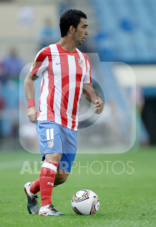 Atletico de Madrid's Arda Turan during UEFA Europa League Match. September 15, 2011. (ALTERPHOTOS/Alvaro Hernandez)