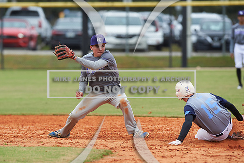 Chris Ayres (7) of Collegeville, Pennsylvania during the Baseball Factory All-America Pre-Season Rookie Tournament, powered by Under Armour, on January 13, 2018 at Lake Myrtle Sports Complex in Auburndale, Florida.  (Michael Johnson/Four Seam Images)