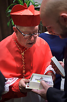 Cardinal Sergio Obeso Rivera,  Pope Francis leads a consistory for the creation of five new cardinals  at St Peter's basilica in Vatican on  June 28, 2018
