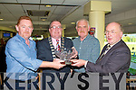 CIVIC RECEPTION: Mike and Vincent McKenna owner's of Irish Derby winner College Causeway with the Mayor of Kerry Bobby O'Connell at the civic reception held in their honor at the Kingdom Greyhound Stadium on Friday l-r: Mike McKenna, Mayor of Kerry Bobby O'Connell, Vincent McKenna and Deputy County Manager John O'Connor.
