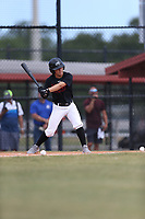 MC Sagaro (57) of Archbishop McCarthy High School in Davie, Florida during the Under Armour Baseball Factory National Showcase, Florida, presented by Baseball Factory on June 12, 2018 the Joe DiMaggio Sports Complex in Clearwater, Florida.  (Nathan Ray/Four Seam Images)