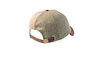 Studio packshot of the mens Valley Derby Tweed Baseball Cap