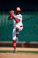 Pitcher Christian Little (40) during the Under Armour All-America Game, powered by Baseball Factory, on July 22, 2019 at Wrigley Field in Chicago, Illinois.  Christian Little attends Christian Brothers College High School in St. Louis, Missouri and is committed to Vanderbilt University.  (Mike Janes/Four Seam Images)
