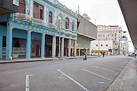 Cuba, Havana.  Street Scene; Central Havana Architecture.