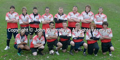 Rugby team photo.  Further Education College.