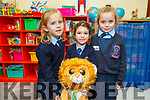 Ella O'Sullivan, Caoimhe Brassill and Sarah Duggan in Miss Crowley's Junior Infants in Ardfert NS