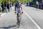 Thibaut Pinot (FRA) FDJ in action during Stage 19 of the 100th edition of the Giro d'Italia 2017, running 191km from San Candido/Innichen to Piancavallo, Italy. 26th May 2017.<br /> Picture: LaPresse/Fabio Ferrari | Cyclefile<br /> <br /> <br /> All photos usage must carry mandatory copyright credit (&copy; Cyclefile | LaPresse/Fabio Ferrari)