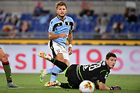 Ciro Immobile of SS Lazio scores the goal of 2-1 during the Serie A football match between SS Lazio and Cagliari Calcio at Olimpico stadium in Rome ( Italy ), July 23th, 2020. Play resumes behind closed doors following the outbreak of the coronavirus disease. Photo Andrea Staccioli / Insidefoto