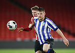 Reece York of Sheffield Utd challenges Jordan Thorniley of Sheffield Wednesday during the Professional Development League match at Bramall Lane, Sheffield. Picture date: 26th November 2019. Picture credit should read: Simon Bellis/Sportimage