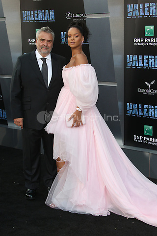 HOLLYWOOD, CA - JULY 17: Luc Besson and Rihanna at the Valerian And The City Of A Thousand Planets World Premiere at the TCL Chinese Theater in Hollywood, California on July 17, 2017. Credit: Faye Sadou/MediaPunch