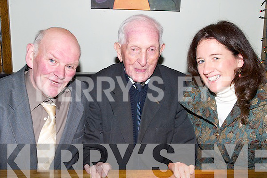 YOUNG AT HEART: Dan Keating, Ballygamboon, Castlemaine, still young at heart as he celebrated his 105th birthday on Tuesday with his family and friends at Gallys Bar & Restaurant, Castlemaine Road, Tralee.