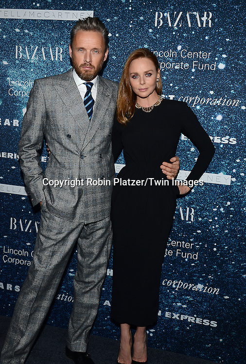 Stella McCartney and husband Alasdhair Willis attend the Stella McCartney Honored by Lincoln Center at Gala on November 13, 2014 at Alice Tully Hall in New York City, USA. She was given the Women's Leadership Award which was presented bythe LIncoln Center for the Performing Arts' Corporate Fund.<br /> <br /> photo by Robin Platzer/Twin Images<br />  <br /> phone number 212-935-0770