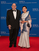 Governor Larry Hogan (Republican of Maryland) and his wife, Yumi, arrive for the 2019 White House Correspondents Association Annual Dinner at the Washington Hilton Hotel on Saturday, April 27, 2019.<br /> Credit: Ron Sachs / CNP<br /> <br /> (RESTRICTION: NO New York or New Jersey Newspapers or newspapers within a 75 mile radius of New York City)