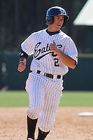 Sean Madigan of the University of California at Irvine running during a game against James Madison University at the Baseball at the Beach Tournament held at BB&T Coastal Field in Myrtle Beach, SC on February 28, 2010.