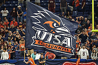 SAN ANTONIO, TX - SEPTEMBER 22, 2018: The University of Texas at San Antonio Roadrunners defeat the Texas State University Bobcats 25-21 in the Alamodome. (Photo by Jeff Huehn)