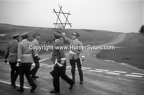 Goathland Plough Stots. Goathland Yorkshire UK  Sword Dance Team 1972.<br />