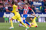 Kevin Gameiro of Atletico de Madrid in action during the La Liga match between Atletico de Madrid vs Villarreal CF at the Estadio Vicente Calderon on 25 April 2017 in Madrid, Spain. Photo by Diego Gonzalez Souto / Power Sport Images