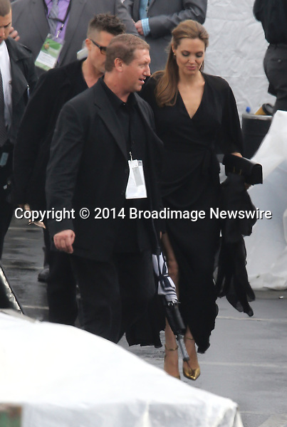 Pictured: Brad Pitt and Angelina Jolie<br /> Mandatory Credit &copy; Fernando Allende/Adriano Camolese/Broadimage<br /> Brad Pitt and Angelina Jolie signing authographs at the 2014 Independent Spirit Awards<br /> <br /> 3/1/14, Santa Monica, California, United States of America<br /> Reference: 030114_FALA_BDG_042<br /> <br /> Broadimage Newswire<br /> Los Angeles 1+  (310) 301-1027<br /> New York      1+  (646) 827-9134<br /> sales@broadimage.com<br /> http://www.broadimage.com