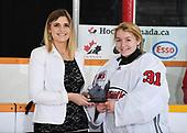 WINKLER, MB– Nov 7 2019: Game 13 - Team Atlantic v Team Manitoba during the 2019 National Women's Under-18 Championship at the Winkler Arena in Winkler, Manitoba, Canada. (Photo by Matthew Murnaghan/Hockey Canada Images)