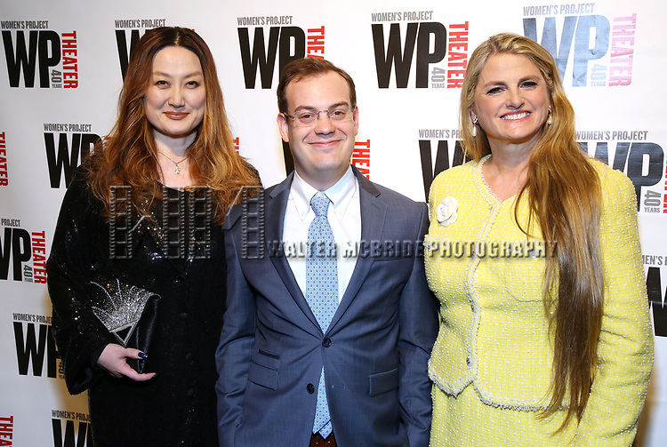 Aki Harimoto, Hal Berman and Bonnie Comley attends the WP Theater's 40th Anniversary Gala -  Women of Achievement Awards at the Edison Hotel on April 15, 2019  in New York City.