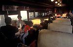 Commuter train America USA. Erie Lackawanna Commuter train New Jersey 1982 1980s