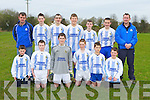 The Castlemaine team that were to play Killarney Celtic in Castlemaine on Saturday in the quarter final of the cup front row l-r: Aaron O'Connor, Tomas Hayes, Luke Flynn, Craig Counihan, Cian Flynn, Tadhg Lenihan.Back row: Cieran Flynn, Gavin Casey, Darragh O'Connor, Aaron Murphy, Trevor Lenihan, Paul Costello and David O'Neill.
