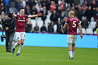 Declan Rice of West Ham United At the Final Whistle Applause Fan's with Pablo Zabaleta of West Ham United during West Ham United vs Arsenal, Premier League Football at The London Stadium on 12th January 2019