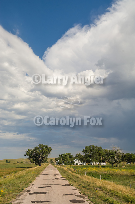 An afternoon thunderstorm builds overhead in the Sand Hills at Eli, Nebraska