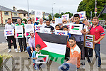 Palestinian Ghassan Aldawud in front right at the Vigil in solidarity with the people of Gaza in Tralee Outside the County Council buildings at Rathass on Wednesday.