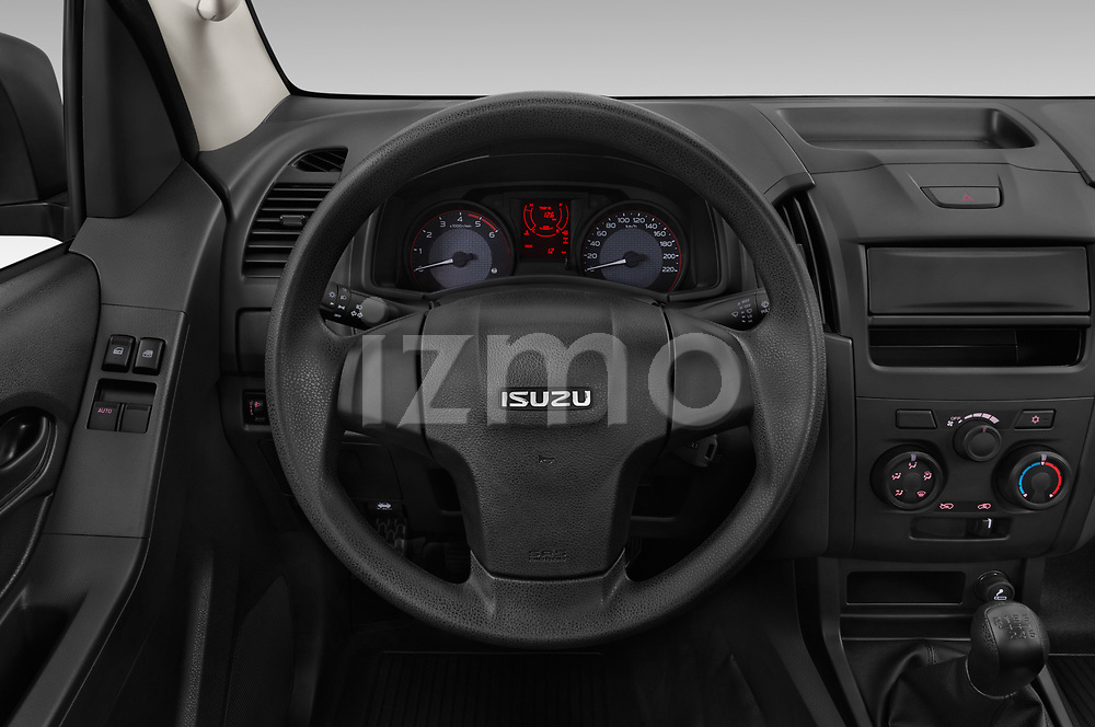 Car pictures of steering wheel view of a 2019 Isuzu D-Max LT 2 Door Pick-up Steering Wheel