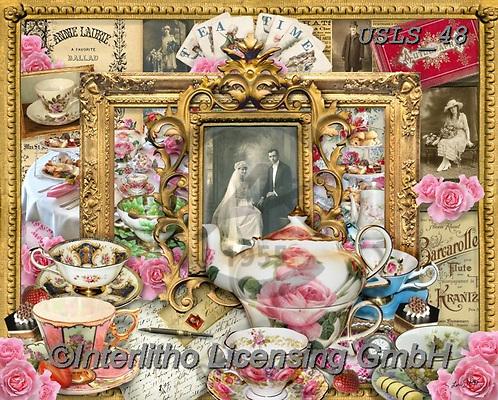 Lori, STILL LIFE STILLEBEN, NATURALEZA MORTA, paintings+++++Tea Time_7_72,USLS48,#I#, EVERYDAY ,puzzles ,collage