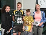 Katie Leonard, Luke, Cormac and Carol Sweeney who took part in the SOSAD 5K run. Photo:Colin Bell/pressphotos.ie
