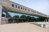 Exterior of the Gerald R. Ford Presidential Library and Museum in Grand Rapids, Michigan on Sunday, June 30, 2019.<br /> Credit: Ron Sachs / CNP