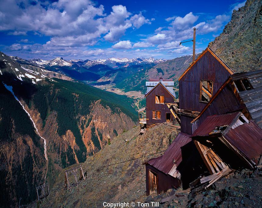 Ghost town high in San Juan Mountains, Colorado     Rocky Mountains