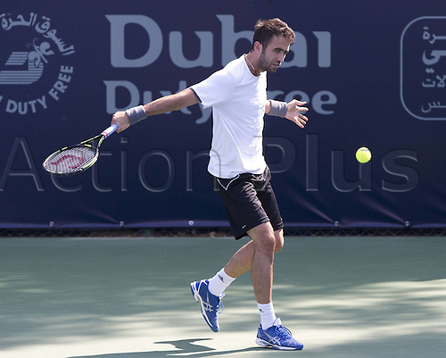 24.02.2015. Dubai, United Arab Emirates.  Marsel Ilhan (TUR) Tennis - Dubai Duty Free Tennis Championships - ATP Tennis